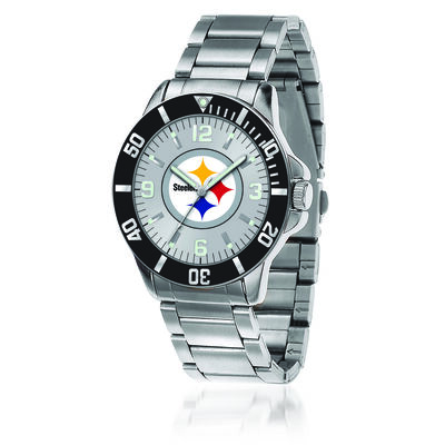 Men's 46mm NFL Pittsburgh Steelers Stainless Steel Key Watch