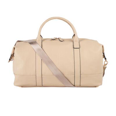 "Brouk & Co. ""Alexa"" Faux Ivory Leather Duffel Bag"