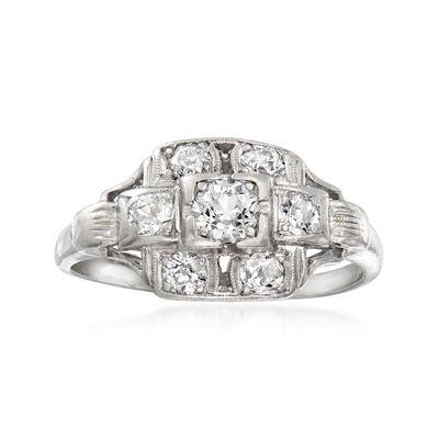 C. 1920 Vintage .55 ct. t.w. Diamond Ring in Platinum