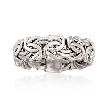 Sterling Silver Small Byzantine Ring, , default