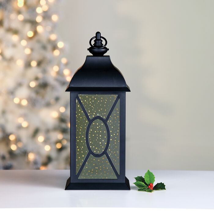 "Mr. Christmas 17"" Black Mercury Glass Lantern, , default"