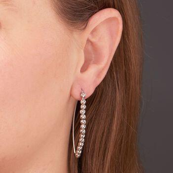 Italian Sterling Silver Beaded Threader Earrings, , default