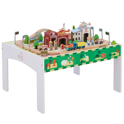 Child's 85-pc. Train and Table Set in White