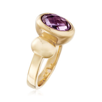 2.50 Carat Amethyst Ring in 14kt Yellow Gold, , default