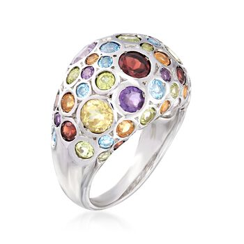 3.75 ct. t.w. Multi-Stone Dome Ring in Sterling Silver