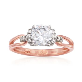 Simon G. .18 ct. t.w. Diamond Engagement Ring Setting in 18kt Two-Tone Gold, , default