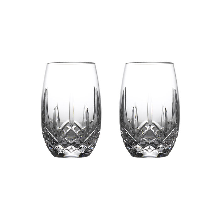 "Waterford Crystal ""Nouveau"" Set of 2 Stemless Glasses for White Wine"