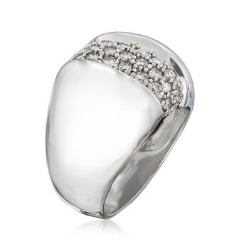 C. 2000 Vintage 1.00 ct. t.w. Pave Diamond Ring in 14kt White Gold. Size 7, , default
