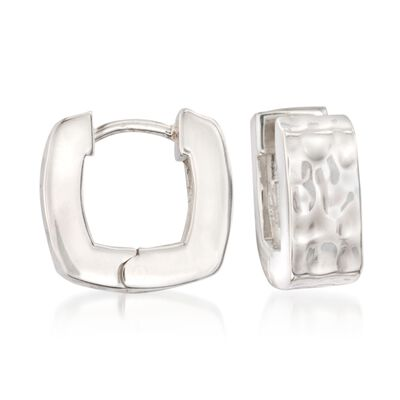 "Zina Sterling Silver ""Sahara"" Snap Hoop Earrings, , default"