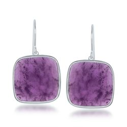15.00 ct. t.w. Amethyst Drop Earrings in Sterling Silver, , default