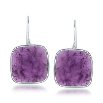 15.00 ct. t.w. Amethyst Drop Earrings in Sterling Silver, , default