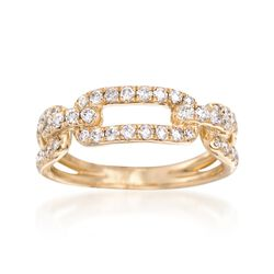 .64 ct. t.w. Diamond Link Ring in 14kt Yellow Gold, , default
