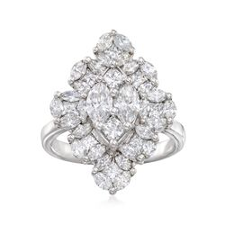 2.21 ct. t.w. Marquise-Shaped Diamond Illusion Ring in 14kt White Gold, , default