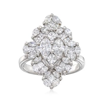 2.21 ct. t.w. Marquise-Shaped Diamond Ring in 14kt White Gold, , default