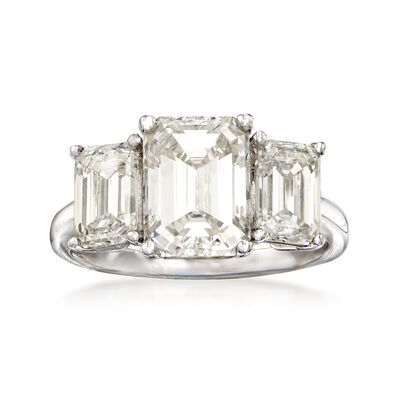 Majestic Collection 4.44 ct. t.w. Diamond Three-Stone Ring in Platinum