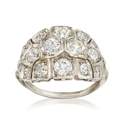 C. 1940 Vintage 3.00 ct. t.w. Diamond Cocktail Ring in Platinum, , default