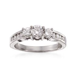 C. 2000 Vintage 1.00 ct. t.w. Diamond Ring in 14kt White Gold. Size 7, , default