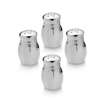Empire Set of 4 Sterling Silver Salt and Pepper Shakers, , default