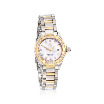 TAG Heuer Aquaracer Women's 27mm .44 ct. t.w. Diamond Watch in Stainless Steel and 18kt Yellow Gold , , default