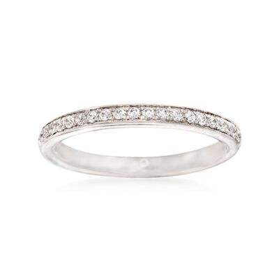 Gabriel Designs .21 ct. t.w. Diamond Wedding Ring in 14kt White Gold, , default