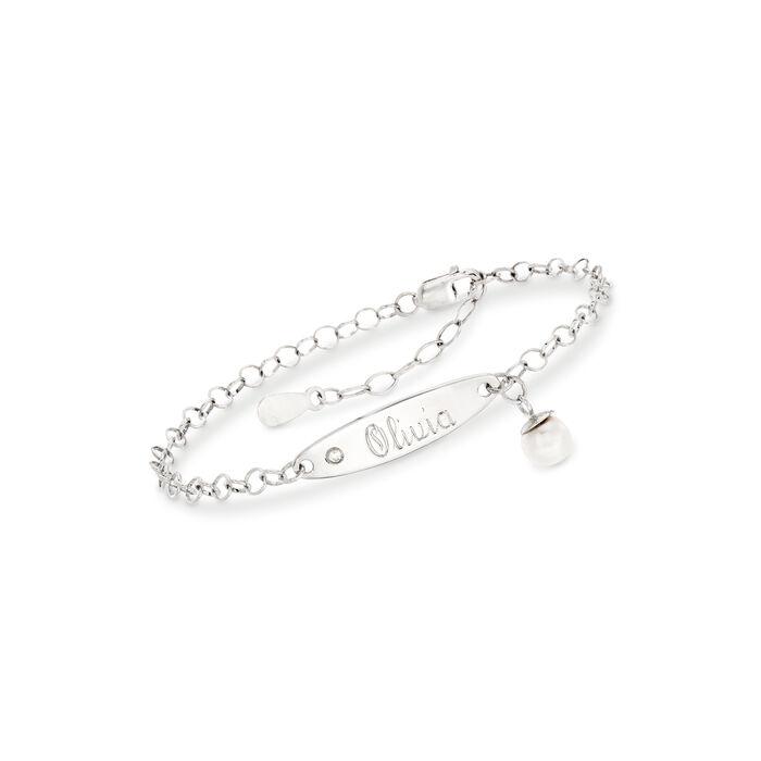 Child's Sterling Silver ID Bracelet, , default