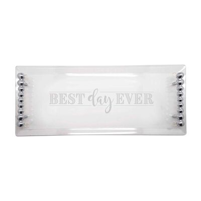 "Mariposa ""Best Day Ever"" Acrylic Serving Tray, , default"