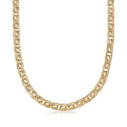 14kt Yellow Gold Triple Curb-Link Necklace, , default