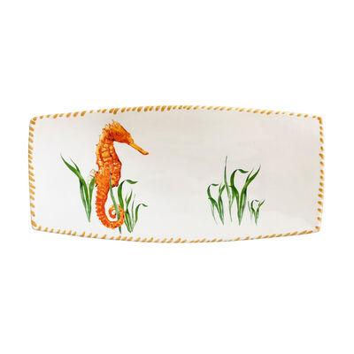 Abbiamo Tutto Seahorse Ceramic Rectangular Tray from Italy