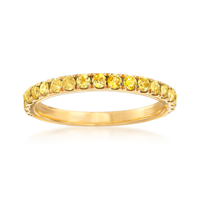 .50 ct. t.w. Yellow Citrine Ring in 18kt Gold Over Sterling