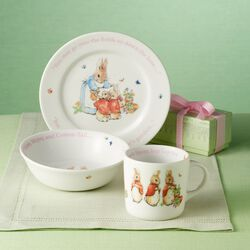 "Wedgwood ""Peter Rabbit"" Child's 3-pc. Porcelain Dinnerware, , default"