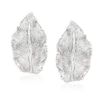 """Charles Garnier """"Constellation"""" Sterling Silver Leaf J-Hoop Earrings, , default"""