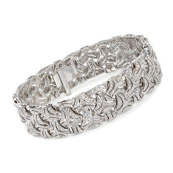 "C. 1980 Vintage 3.00 ct. t.w. Diamond Bracelet in 18kt White Gold. 7.5"", , default"