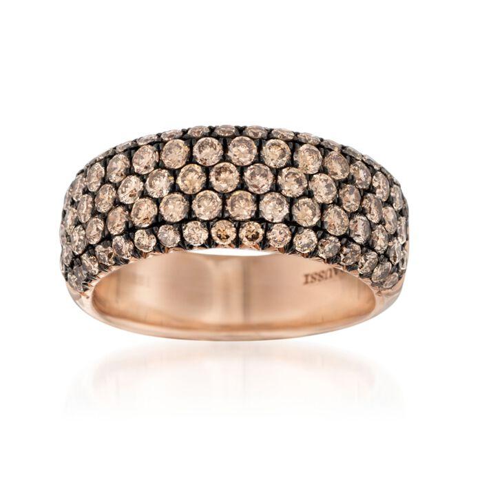Henri Daussi 1.80 ct. t.w. Brown Diamond Wedding Ring in 18kt Rose Gold, , default