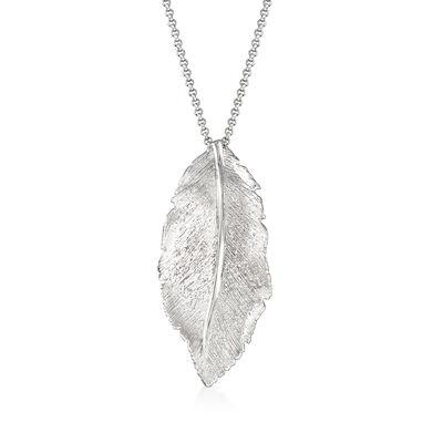 "Charles Garnier ""Constellation"" Leaf Pendant in Sterling Silver, , default"