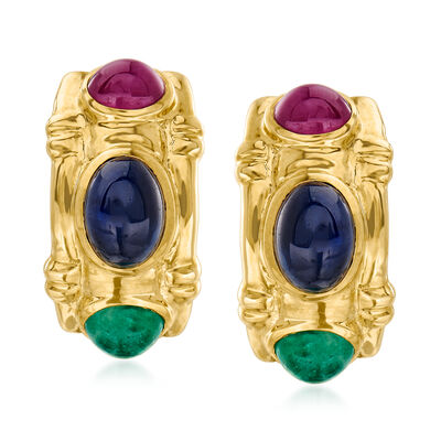4.50 ct. t.w. Multi-Gem Earrings in 14kt Yellow Gold