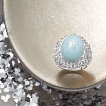 Milky Aquamarine and 4.40 ct. t.w. Sky Blue Topaz Ring in Sterling Silver, , default