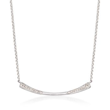 """.10 ct. t.w. Diamond Bar Necklace in Sterling Silver. 20"""", , default"""