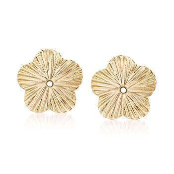 14kt Yellow Gold Flower Earring Jackets