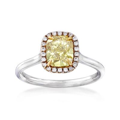 1.53 ct. t.w. Yellow and White Diamond Ring in 18kt Two-Tone Gold, , default