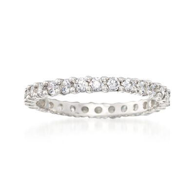 .80 ct. t.w. CZ Eternity Band in Sterling Silver, , default