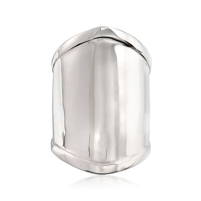Sterling Silver Wide Polished Ring, , default