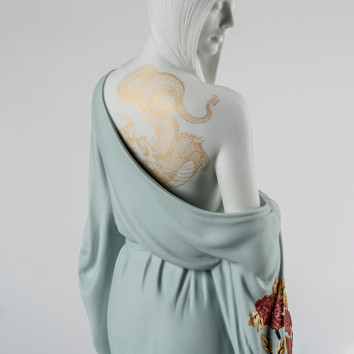 "Lladro ""Beauty with Dragon Tattoo"" Porcelain Figurine"
