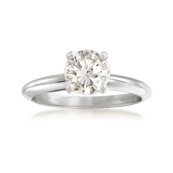 1.29 Carat Certified Diamond Solitaire Ring in 14kt White Gold, , default