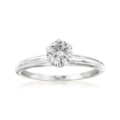 C. 1970 Vintage .65 Carat Diamond Ring in 14kt White Gold, , default