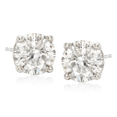 2.75 ct. t.w. Diamond Stud Earrings in Platinum, , default