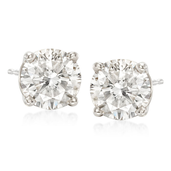 2.75 ct. t.w. Diamond Stud Earrings in Platinum
