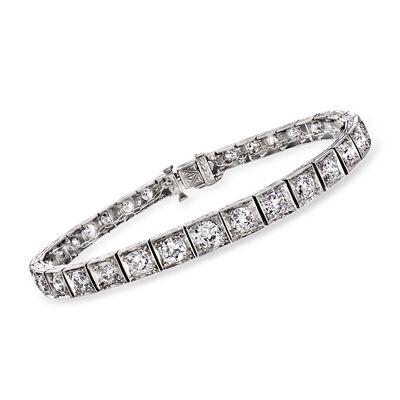 C. 1940 Vintage 5.00 ct. t.w. Diamond Tennis Bracelet in Platinum