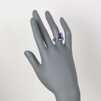 11.00 Carat Amethyst Ring in Sterling Silver, , default