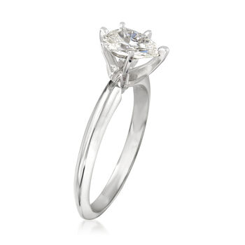 .88 Carat Pear-Shaped Diamond Ring in 14kt White Gold