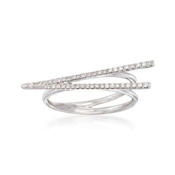 .16 ct. t.w. Diamond Chopsticks Ring in 14kt White Gold, , default